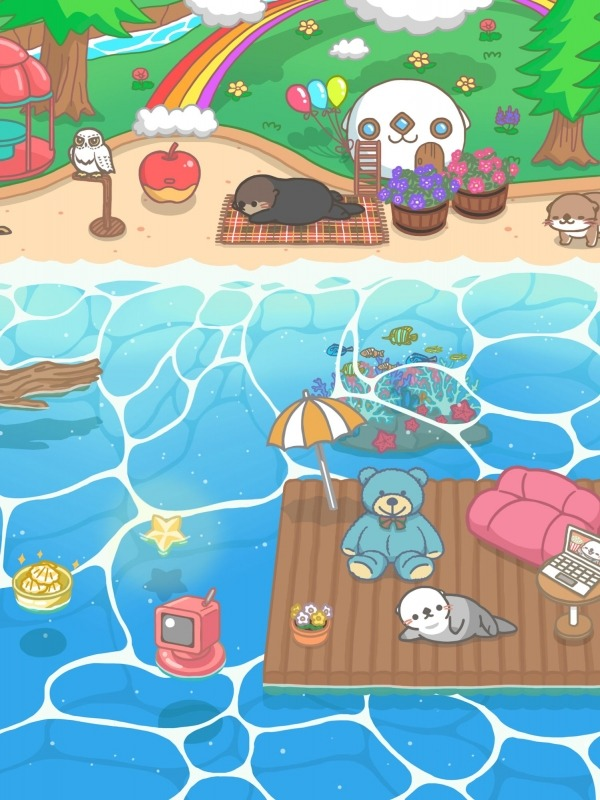 Rakko Ukabe - Let's Call Cute Sea Otters! Android Game Image 2