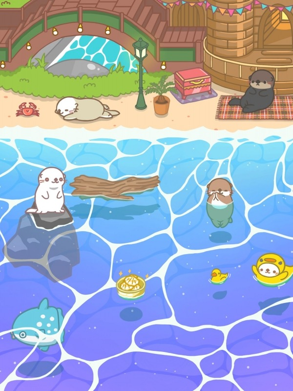 Rakko Ukabe - Let's Call Cute Sea Otters! Android Game Image 3