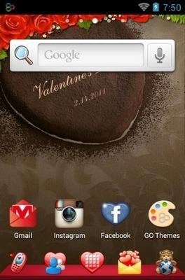 Romantic Go Launcher Android Theme Image 1