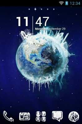 Planet Ice Go Launcher Android Theme Image 1