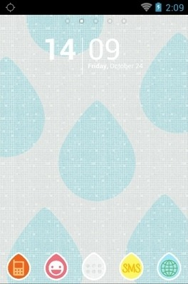 Showering Water Drops Go Launcher Android Theme Image 1
