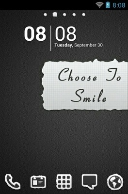 Smile Go Launcher Android Theme Image 1