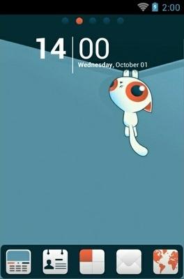 Kitten Lite Go Launcher Android Theme Image 1