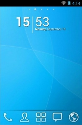 Nanairo Go Launcher Android Theme Image 1