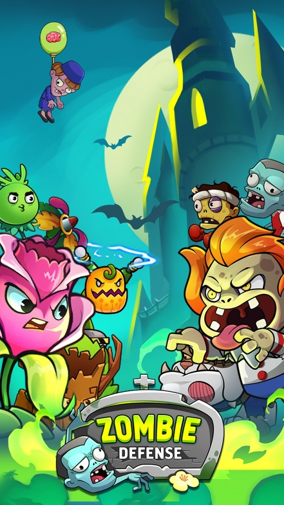 Zombie Defense - Plants War - Merge Idle Games Android Game Image 1