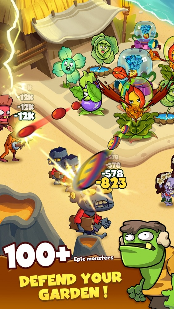 Zombie Defense - Plants War - Merge Idle Games Android Game Image 2