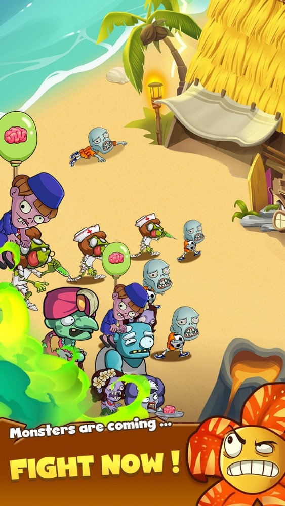 Zombie Defense - Plants War - Merge Idle Games Android Game Image 3