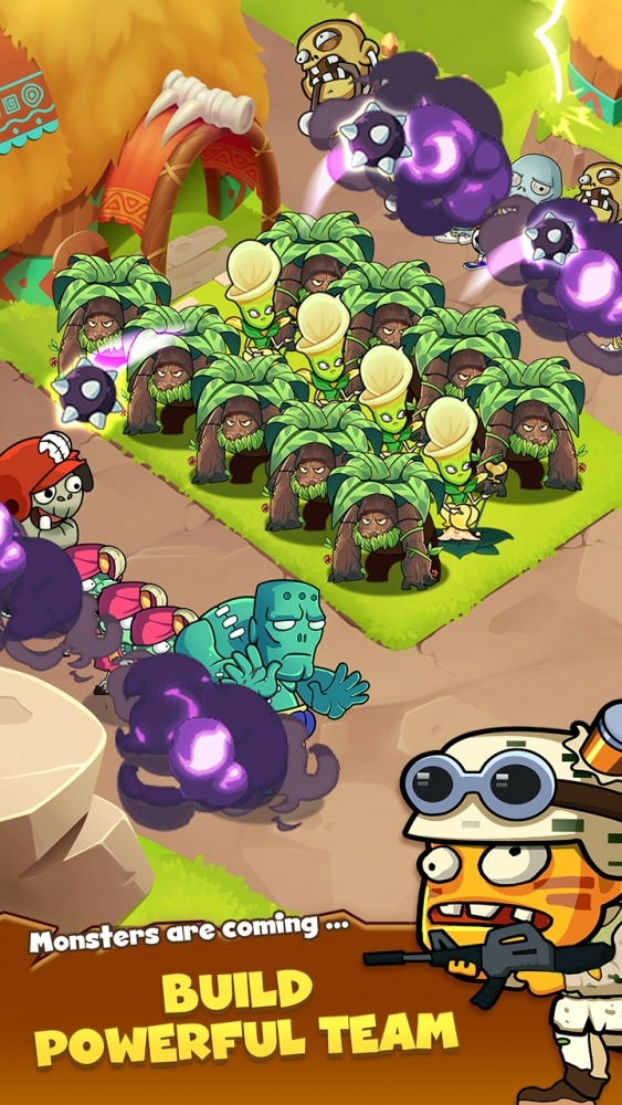 Zombie Defense - Plants War - Merge Idle Games Android Game Image 4