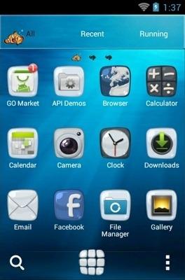 Aquarium Go Launcher Android Theme Image 2