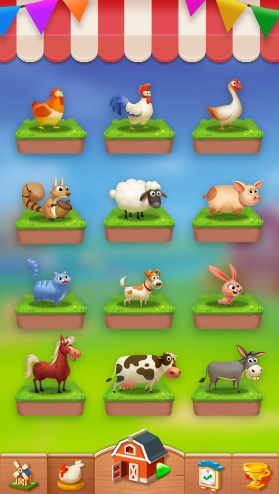 Solitaire - My Farm Friends Android Game Image 1