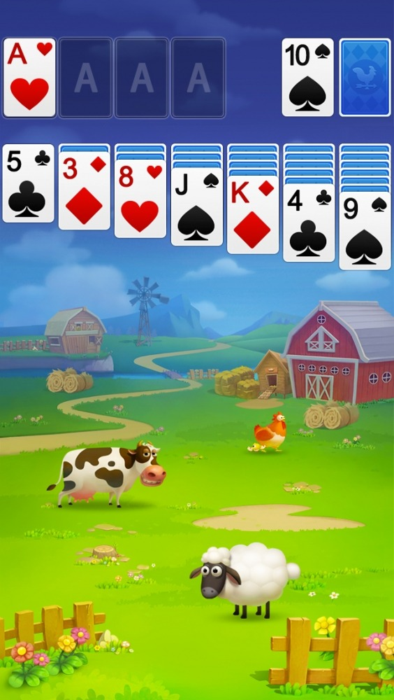 Solitaire - My Farm Friends Android Game Image 2