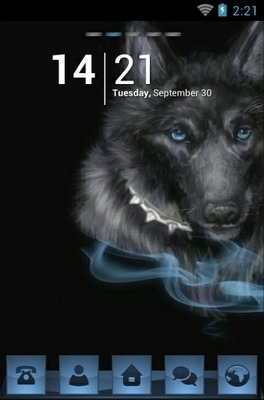 Black Wolf Go Launcher Android Theme Image 1