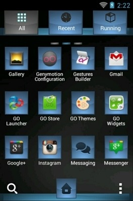 Black Wolf Go Launcher Android Theme Image 2