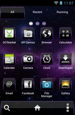Space Nebula Go Launcher Android Theme Image 2