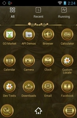 Steampunk Girl Go Launcher Android Theme Image 2