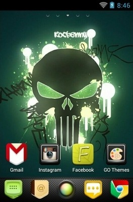 New Skull Go Launcher Android Theme Image 1