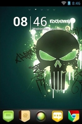 New Skull Go Launcher Android Theme Image 2