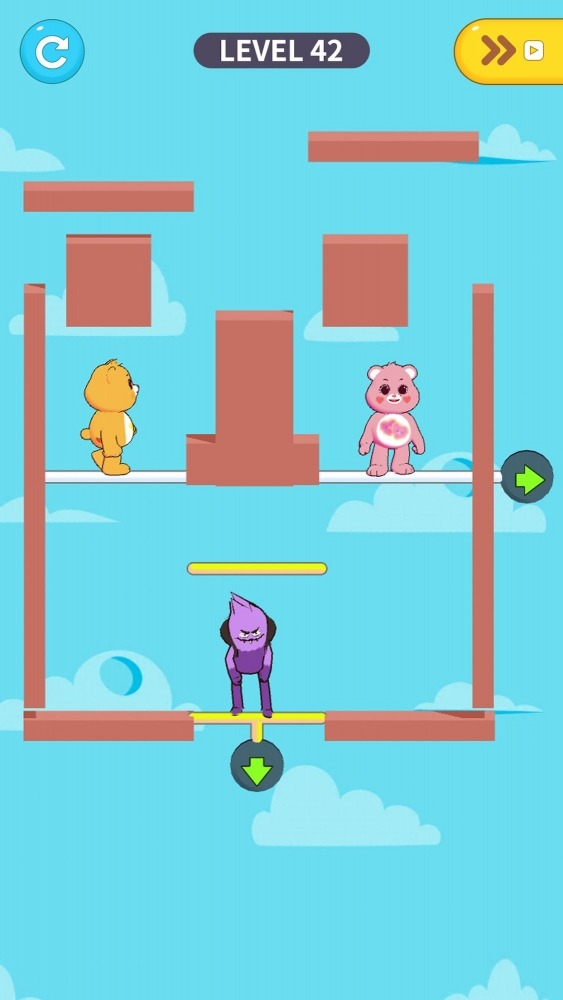 Care Bears: Pull The Pin Android Game Image 3