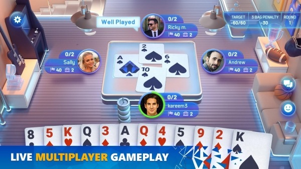 Spades Masters Android Game Image 1