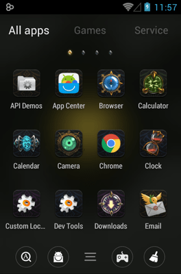 Darkness Go Launcher Android Theme Image 2