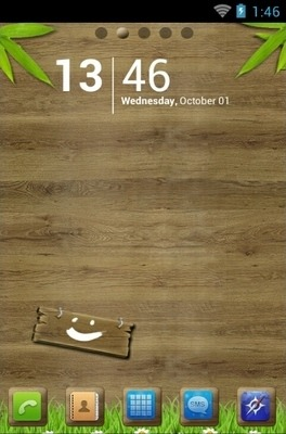Wood Go Launcher Android Theme Image 1