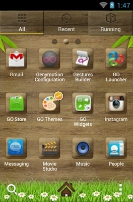 Wood Go Launcher Android Theme Image 2