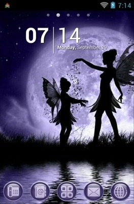 Fairy Sisters Go Launcher Android Theme Image 1