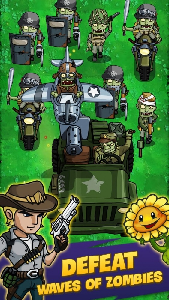 Zombie War: Idle Defense Game Android Game Image 1
