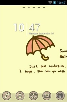Rainy Go Launcher Android Theme Image 1