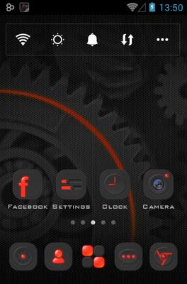 Dark Energy Go Launcher Android Theme Image 1