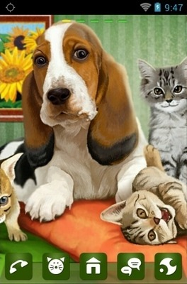 Dog Cats Release Go Launcher Android Theme Image 1