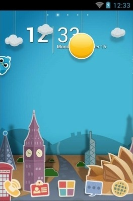 Paper Town Go Launcher Android Theme Image 1