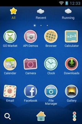 Paper Town Go Launcher Android Theme Image 2