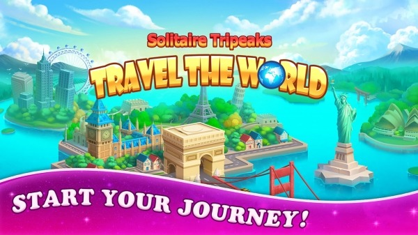 Solitaire Tripeaks: Travel The World Android Game Image 1