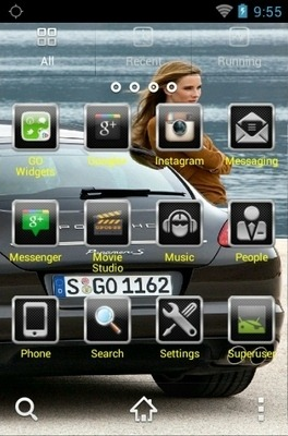 Black Porsche Go Launcher Android Theme Image 2