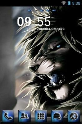 Black Lion Go Launcher Android Theme Image 1