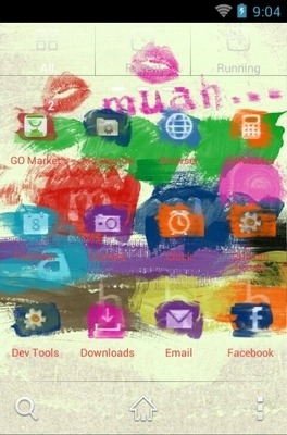 Muah Painted Go Launcher Android Theme Image 2