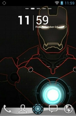 Iron Man Go Launcher Android Theme Image 1