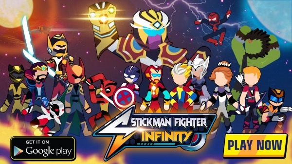 Stickman Fighter Infinity - Super Action Heroes Android Game Image 1