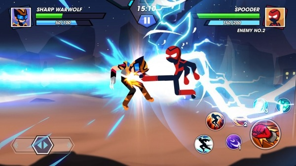 Stickman Fighter Infinity - Super Action Heroes Android Game Image 2