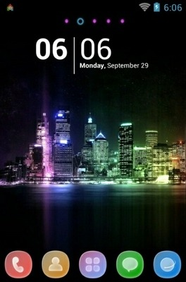 Citylights Go Launcher Android Theme Image 1