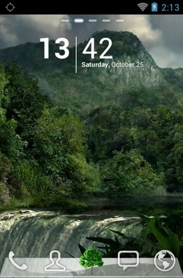Green Forests Go Launcher Android Theme Image 1
