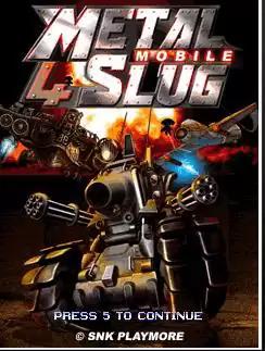 Metal Slug 4 Mobile Java Game Image 1