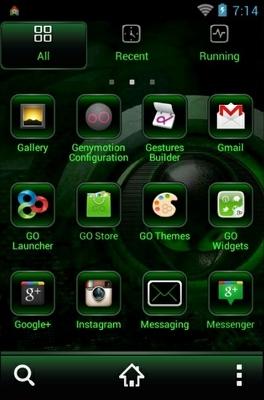 Alien Go Launcher Android Theme Image 2