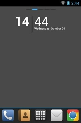 IBlue Go Launcher Android Theme Image 1