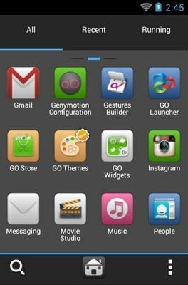 IBlue Go Launcher Android Theme Image 2