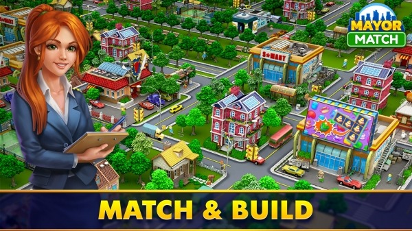 Mayor Match: Town Building Tycoon & Match-3 Puzzle Android Game Image 1