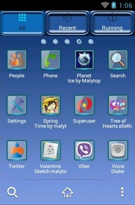 Apple Blue Reflection Go Launcher Android Theme Image 2