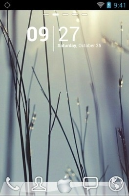 Apple IOS Go Launcher Android Theme Image 1