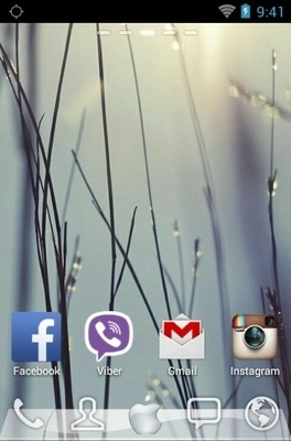 Apple IOS Go Launcher Android Theme Image 2